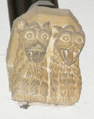 Male and Female monsters at Castle Cary Church