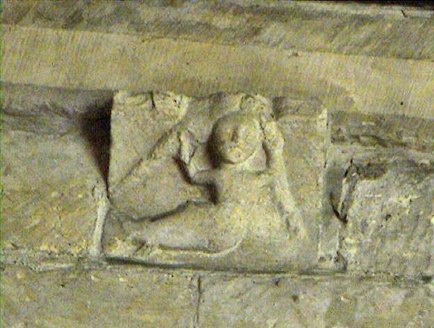 Romanesque Mermaid or Melusine figure