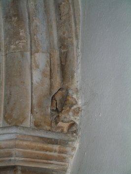 Figure on the column