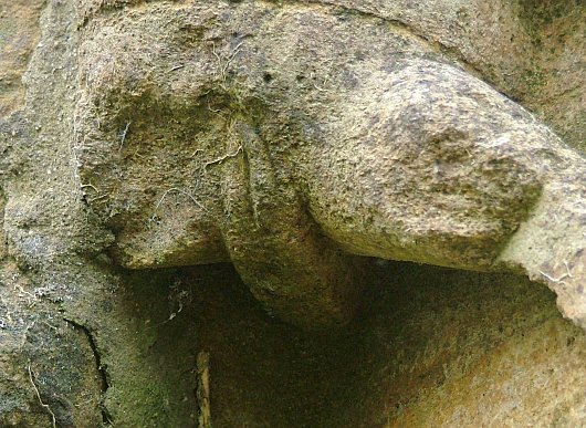 Close up of the vulva. A later carving?