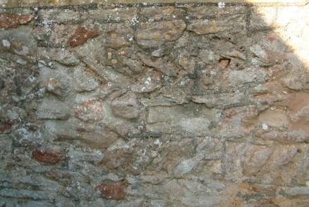 Herringbone Masonry showing the age of the church