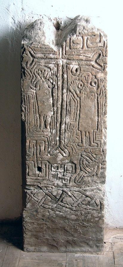 The Iohanes Moridic Stone at Llanhamlach Church