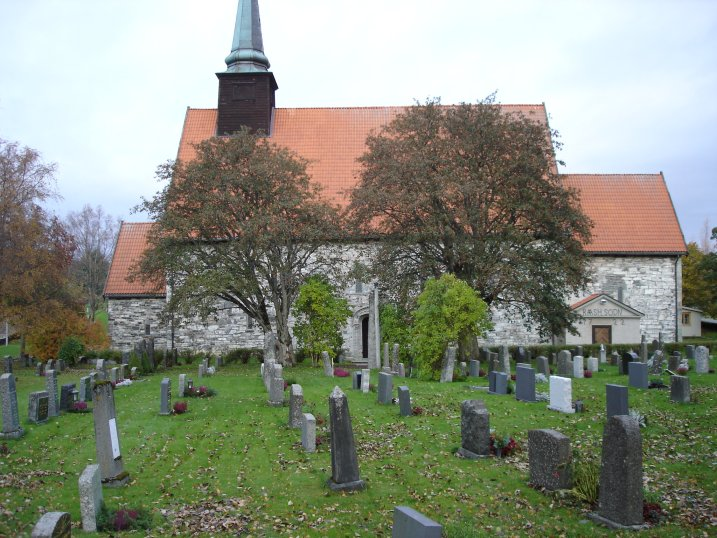 A view of Stiklestad church.