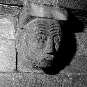 The head similar to the one at Kilpeck