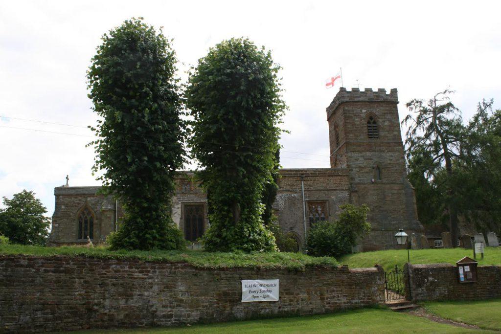 The otherwise quite plain Litchborough church